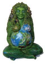 Estátua representando Gaia, a deusa Terra